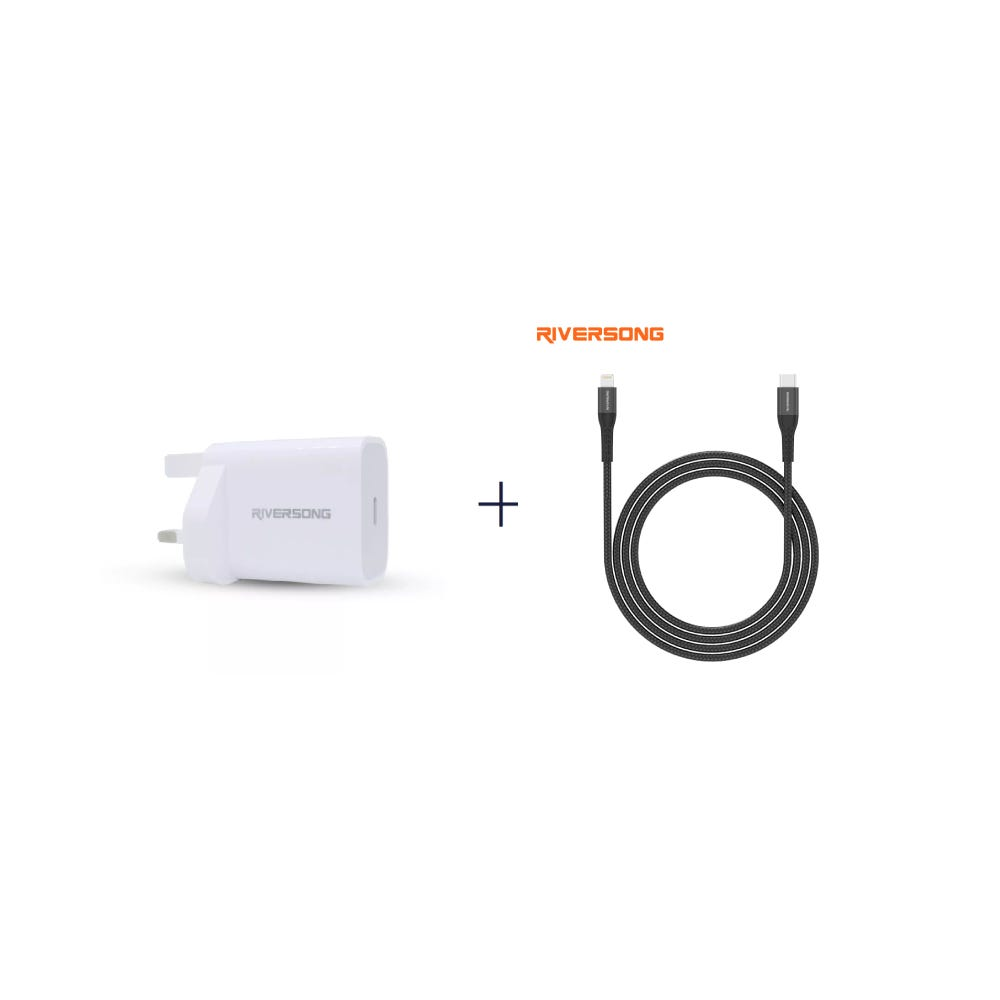 [Bundle] PowerKub 20W Wall Charger + Alpha L2 20W Type-C to Lightning Cable