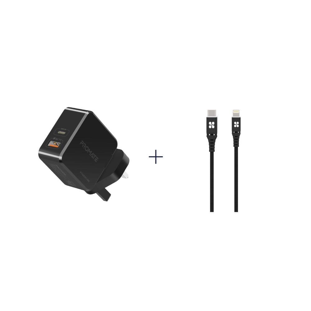 [Bundle] Promate Adapter + Promate Powercord