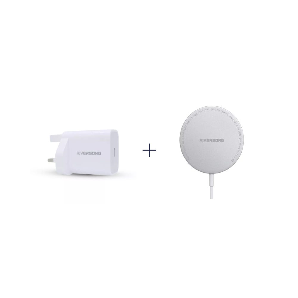 [Bundle] PowerKub 20W Wall Charger + PowerFlux Magnetic Wireless Charger