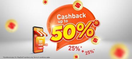 SCoin Cashback 50 percent
