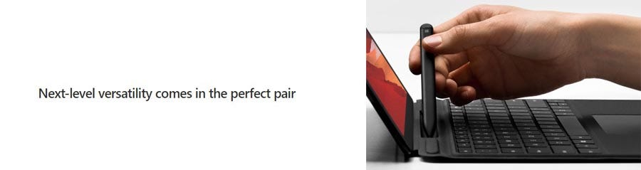 Microsoft Surface Pro X Keyboard + Slim Pen Black MIC-QSW-00015