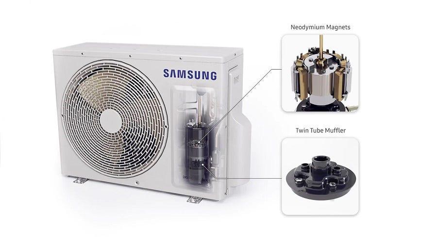 Samsung 2.5HP Wind-free Premium Plus Air Cond SAM-AR24TYEA